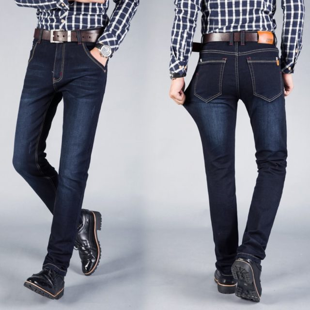 Men's Blue Straight Jeans