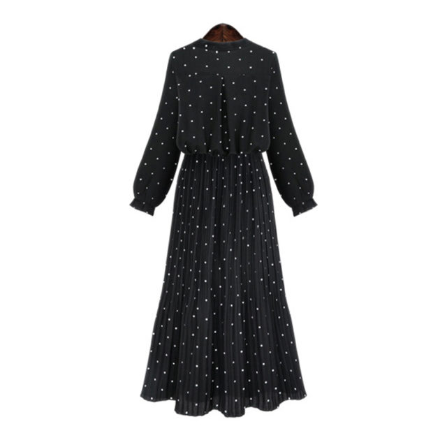 Women's O-Neck Long Sleeved Dress